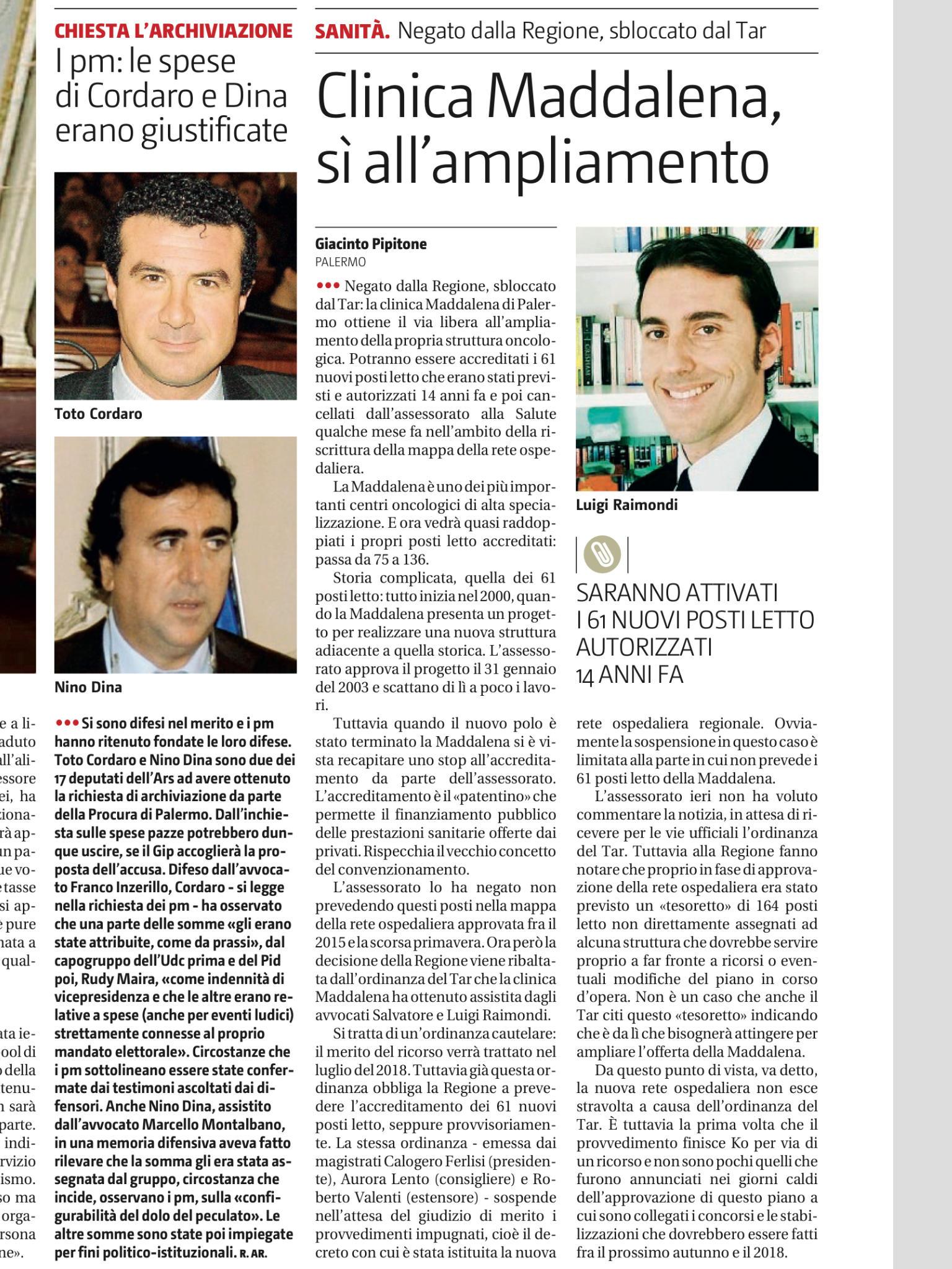 Articolo GDS la Maddalena