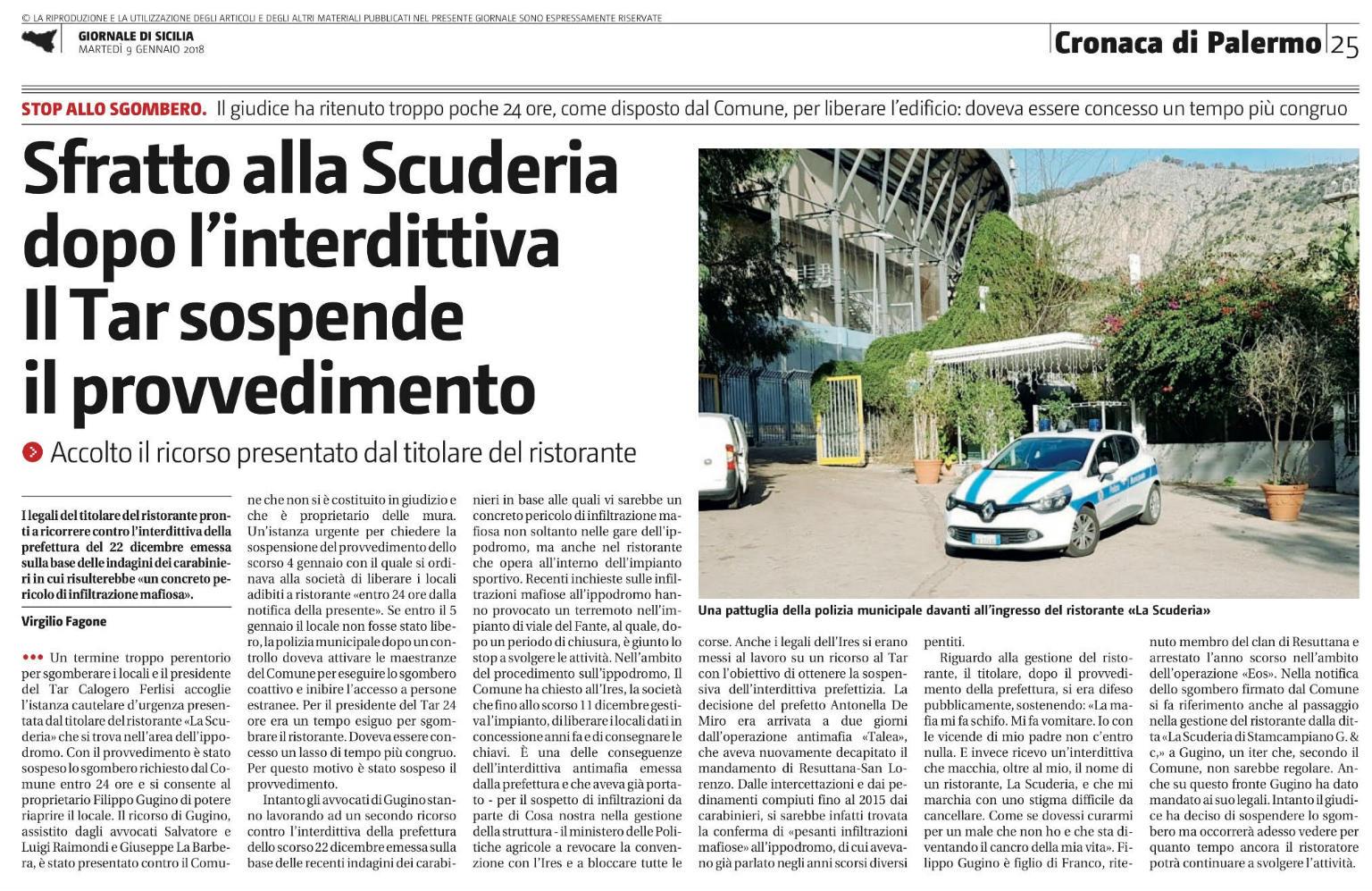 La Scuderia articolo Giornale di Sicilia2