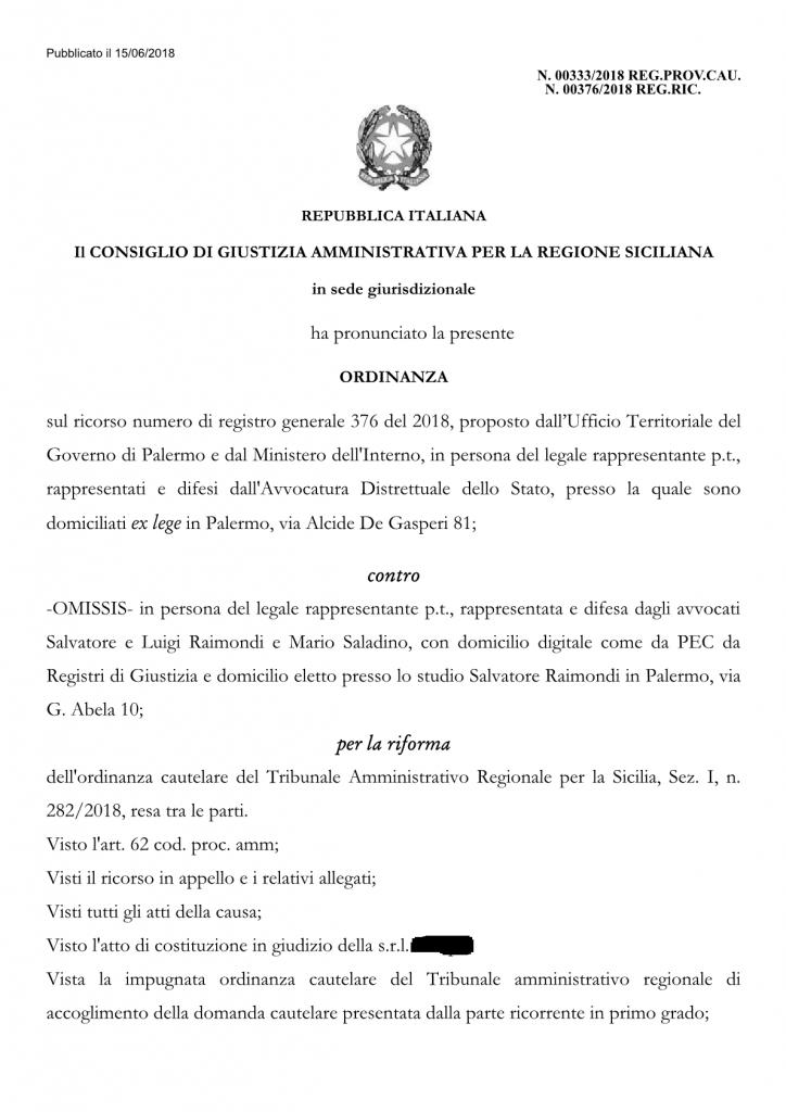 CGA - Ordinanza 333-2018 15-6-18 EFFEPI1