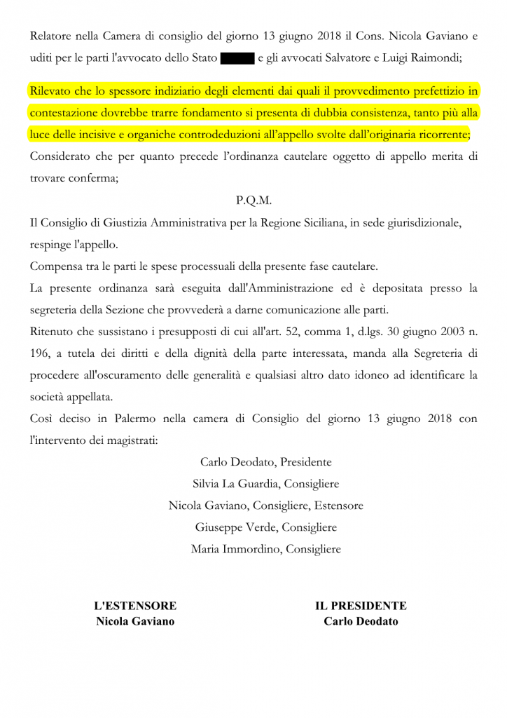 CGA - Ordinanza 333-2018 15-6-18 EFFEPI2