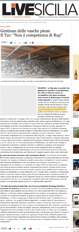 Livesicilia RAP Bellolampo