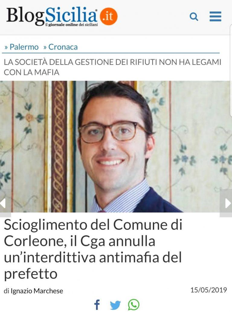 Blogsicilia, 15 Maggio 2019.